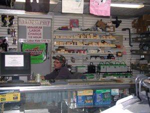 boat parts and batteries for sale at Butte General store