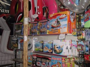 water toys and flotation devices at butte general store