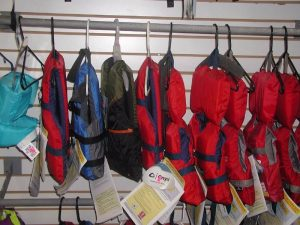 life jackets in all sizes for sale at butte general store