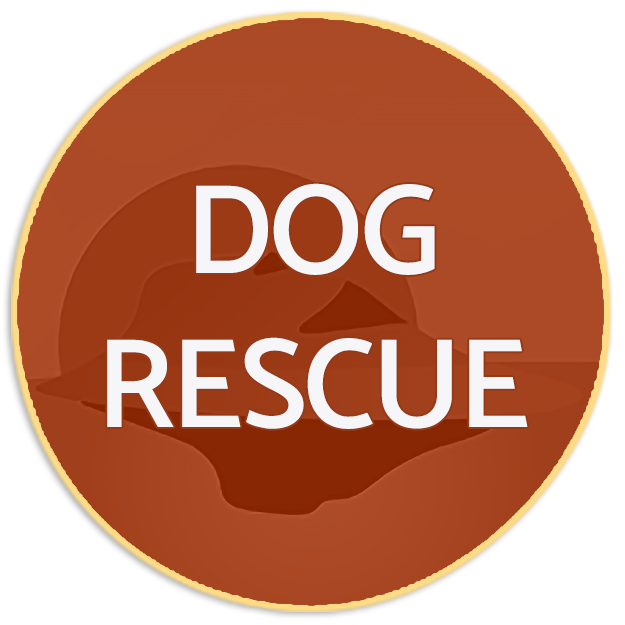 Blue dog rescue button