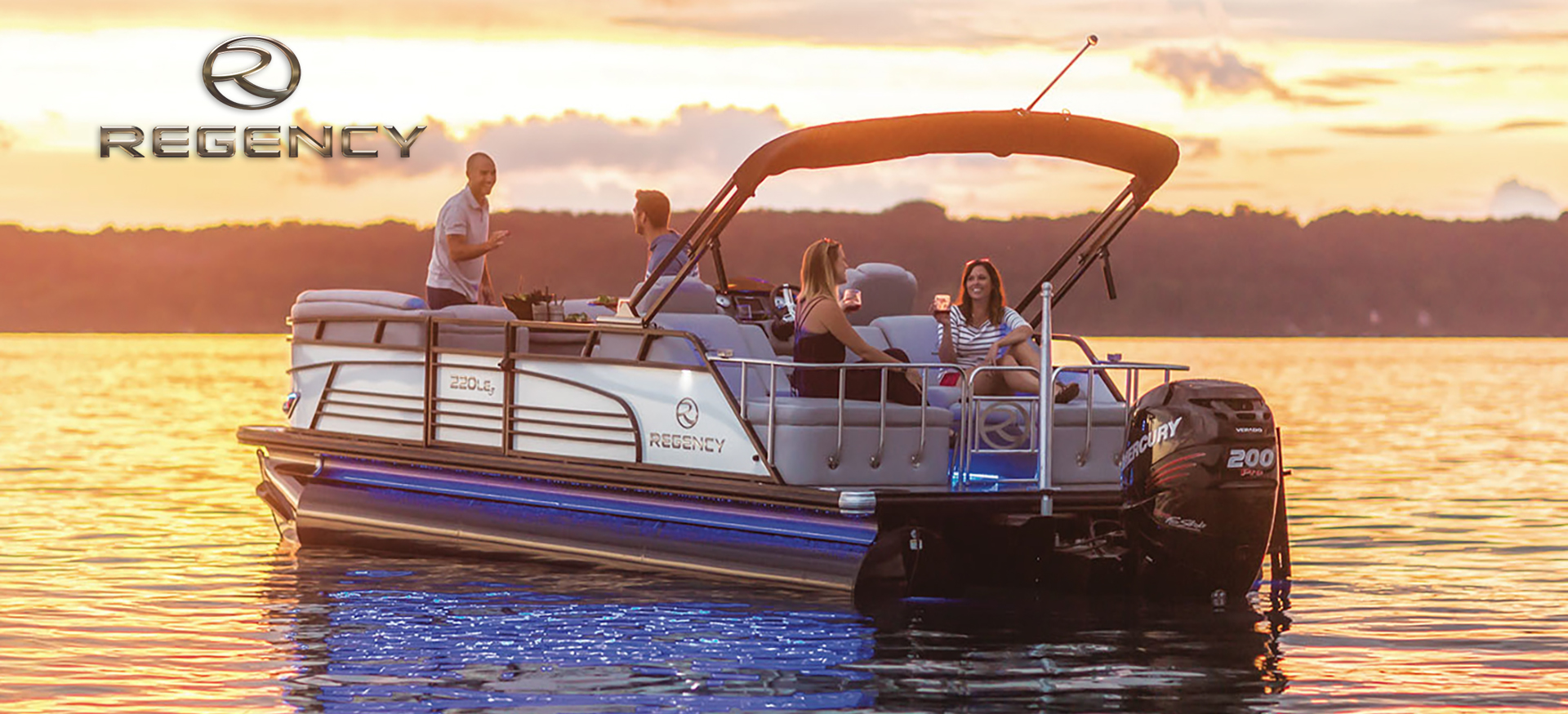 Regency pontoon boat